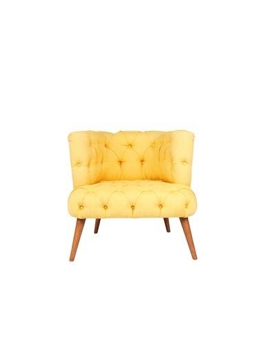 Ze10 Design West Monreo Tekli Koltuk Sarı Sarı